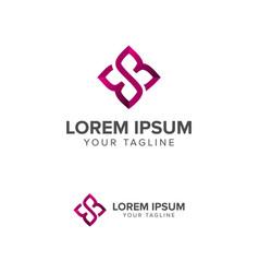 letter e logosquare shape vector image