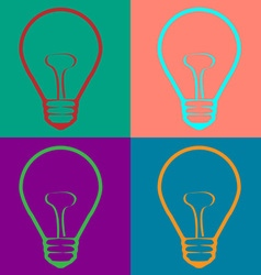 Light bulb in warhol style vector
