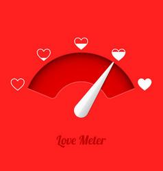love meter vector image