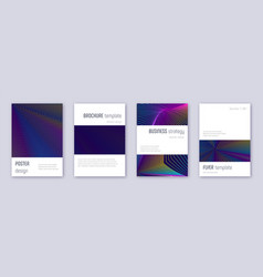 minimalistic brochure design template set rainbow vector image