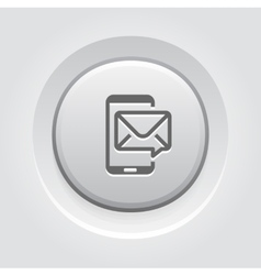 Mobile Marketing Icon Grey Button Design vector