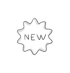 New tag sketch icon vector image vector image