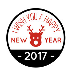 New year wish you image vector