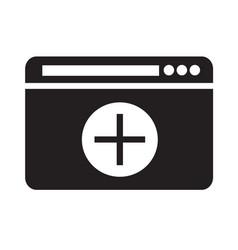 open new window icon design vector image