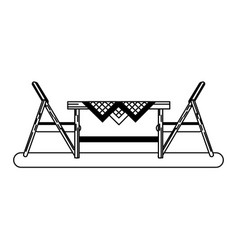 Outdoor table setting eating outdoors icon image vector