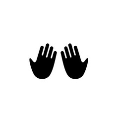 Praying moslem hand gesture logo icon vector