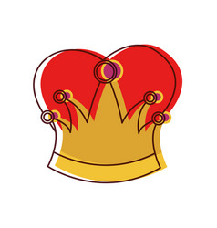 queen crown in colored watercolor silhouette vector image