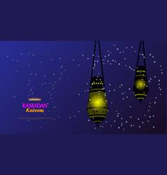 ramadan kareemconcept banner islamic theme vector image
