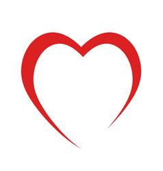 red heart like love symbol on white stock vector image