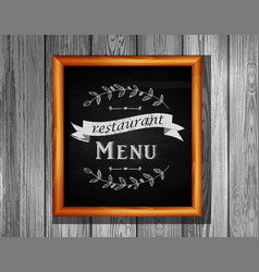 restaurant menu board restaurant menu bulletin vector image