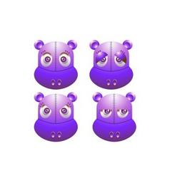 robot hippo vector image