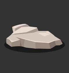 rock stone is gray on a black background vector image