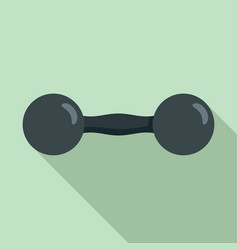 round dumbell icon flat style vector image
