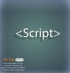 Script sign icon Javascript code symbol On the vector