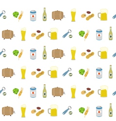 Seamless pattern with beer icons vector image