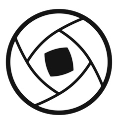 Semi-closed lens icon simple style vector