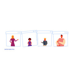 set different people family members casual men vector image