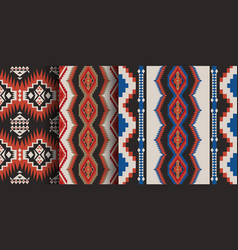 set native southwest american aztec navajo vector image