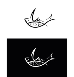 set of fish sign vector image