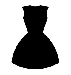 silhouette of a dress vector image