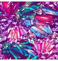 sketching of crystals vector image