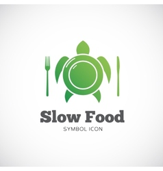 Slow Food Concept Symbol Icon or Logo Template vector