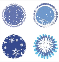Snowflakes winter set vector