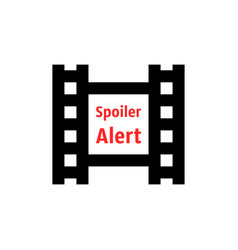 Spoiler alert icon with film strip vector