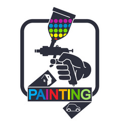 sprayer for painting symbol vector image