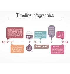Timeline Elements vector image