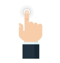 Touch screen finger icon vector