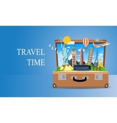 travel and vacations concept vector image