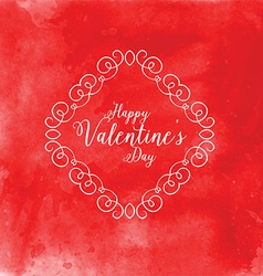 Watercolor Valentines Day background 1201 vector image