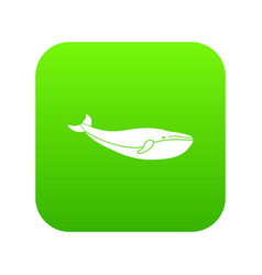 whale icon digital green vector image