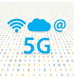 5g speed wireless internet network vector image