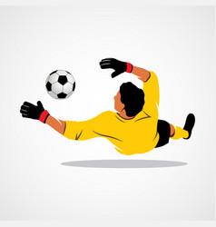 goalkeeper ball icon vector image vector image