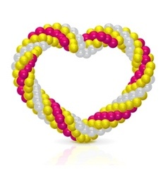 Heart from balloons vector