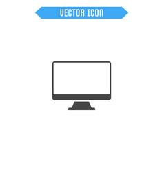monitor flat icon vector image vector image