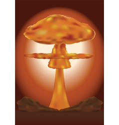 nuclear explosion vector image vector image