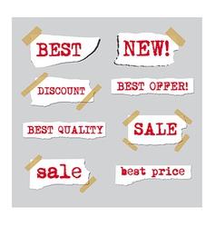 promotion sale labels vector image