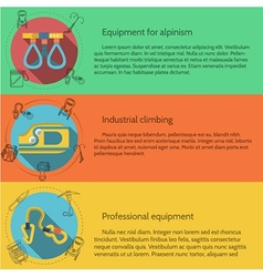 Rappeling equipment flat color vector image