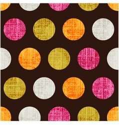 seamless colorful textured polka dots vector image vector image