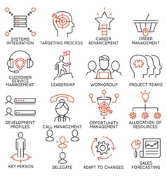 Set of icons related to business management - 36 vector