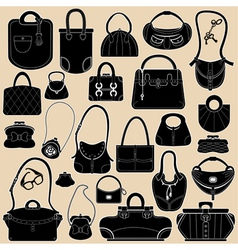 bag black set 380 vector image vector image