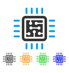 cpu circuit icon vector image