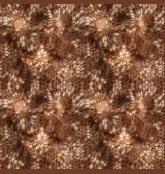 Hexagonal brown camouflage seamless patttern vector