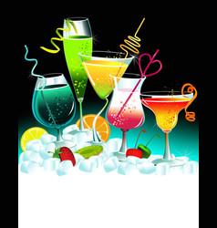 Set of drinks vector