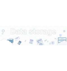 data storage word on squared background horizontal vector image