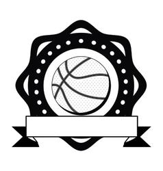 Isolated ball of basketball design vector image