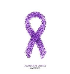 modern ALZHEIMERS DISEASE awareness circles vector image